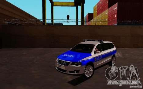 Volkswagen Passat B6 Variant Polizei pour GTA San Andreas laissé vue