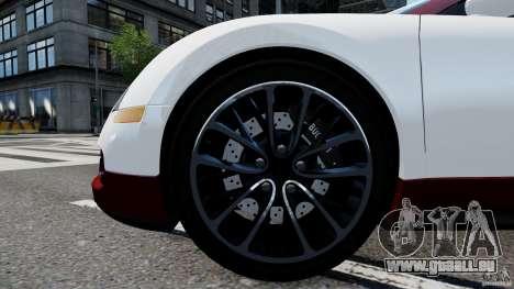 Bugatti Veyron 16.4 v1.0 wheel 1 pour GTA 4 Vue arrière