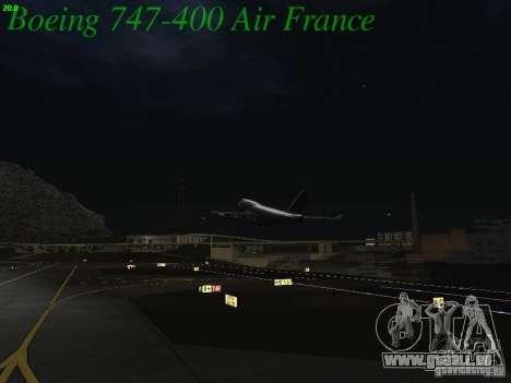 Boeing 747-400 Air France pour GTA San Andreas vue de dessus