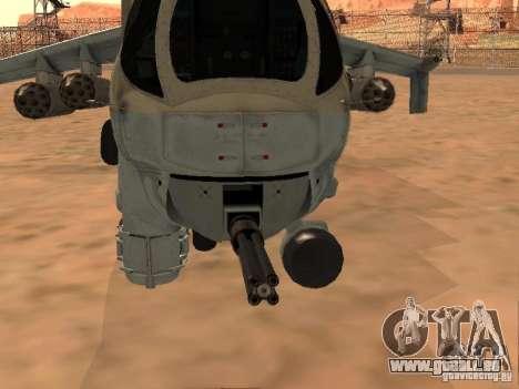 Mi-24p für GTA San Andreas obere Ansicht