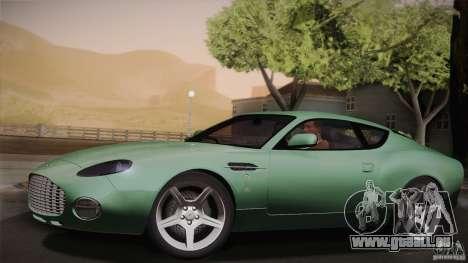 Aston Martin DB7 Zagato 2003 pour GTA San Andreas vue de dessous