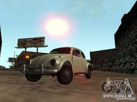 Volkswagen Beetle pour GTA San Andreas vue de côté