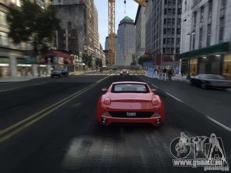 Ferrari California 2009 pour GTA 4 est une vue de dessous