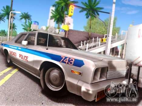 Dodge Monaco 1974 pour GTA San Andreas vue de dessus