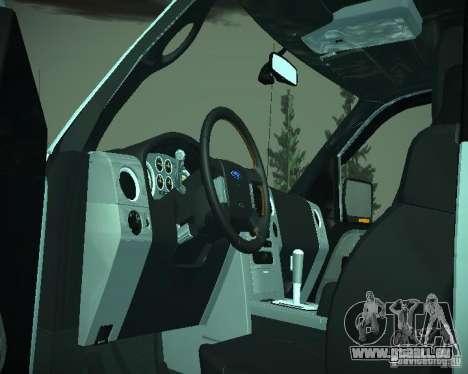 Ford F-150 EXT pour GTA San Andreas vue intérieure