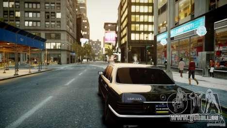 Mercedes-Benz 560 SEL Black Edition für GTA 4 Rückansicht