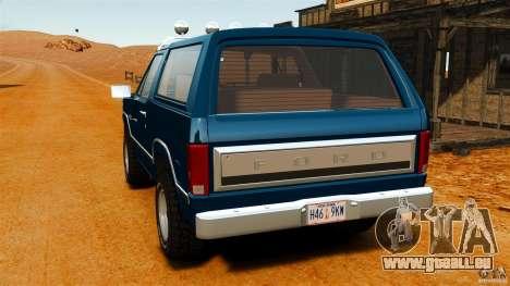 Ford Bronco 1980 für GTA 4 hinten links Ansicht