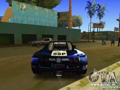 Bugatti Veyron Federal Police für GTA San Andreas rechten Ansicht