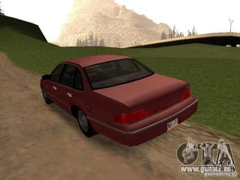 Ford Crown Victoria LX 1994 für GTA San Andreas zurück linke Ansicht