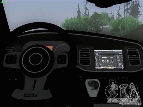 Dodge Charger 2012 Police für GTA San Andreas Innen