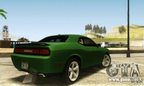 Dodge Challenger SRT-8 für GTA San Andreas zurück linke Ansicht