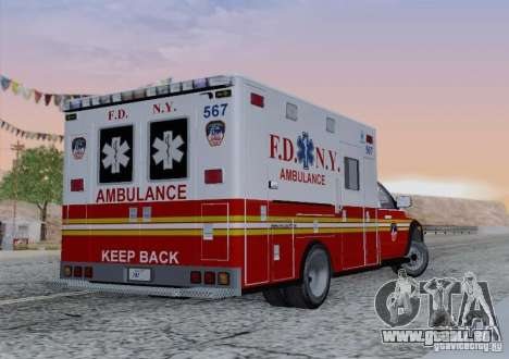 Dodge Ram Ambulance pour GTA San Andreas vue de côté