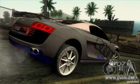 Audi R8 Spyder Tunable pour GTA San Andreas vue de côté