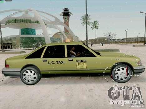 SA Taxi HD de GTA 3 pour GTA San Andreas sur la vue arrière gauche