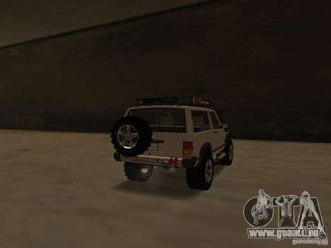 Jeep Cherokee Sport pour GTA San Andreas sur la vue arrière gauche