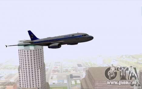 Airbus A-319 Azerbaijan Airlines pour GTA San Andreas vue de dessous