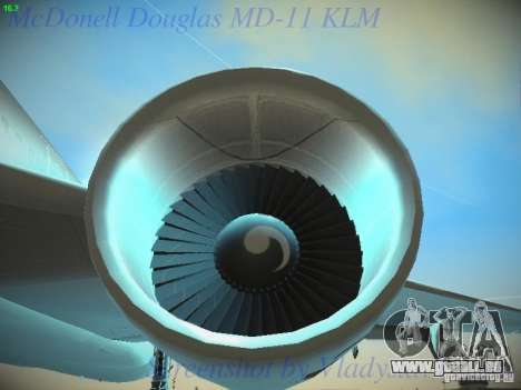 McDonnell Douglas MD-11 KLM Royal Dutch Airlines pour GTA San Andreas vue de dessus