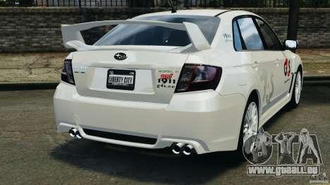 Subaru Impreza WRX STi 2011 G4S Estonia pour GTA 4 Vue arrière