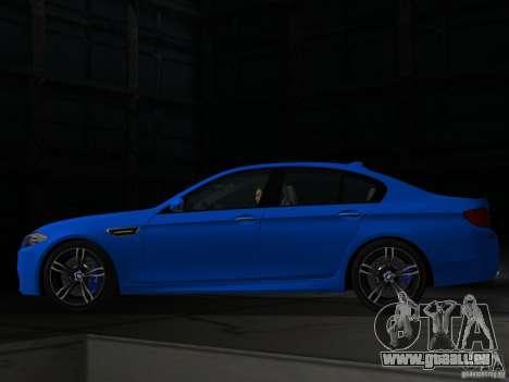 BMW M5 F10 2012 pour une vue GTA Vice City de la gauche