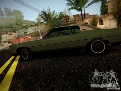 Chevrolet Impala 1972 pour GTA San Andreas laissé vue