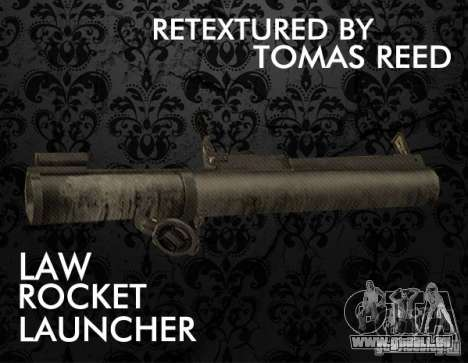 LAW Rocket Launcher Retextured pour GTA San Andreas