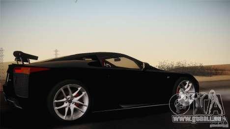 Lexus LFA (US-Spec) 2011 pour GTA San Andreas vue de droite