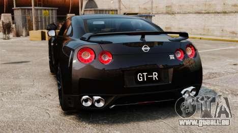 Nissan GT-R Black Edition (R35) 2012 pour GTA 4 Vue arrière de la gauche