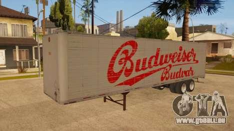Ganzmetall-trailer für GTA San Andreas obere Ansicht
