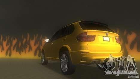 BMW X5 pour GTA Vice City sur la vue arrière gauche