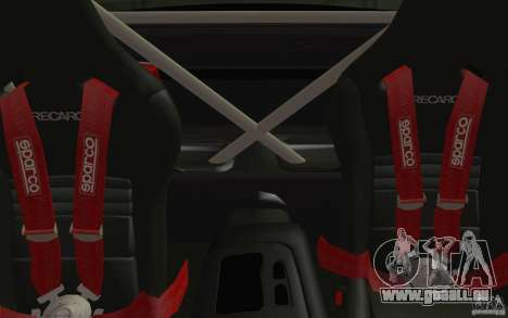 Mazda RX7 Hellalush V.2 pour GTA San Andreas vue intérieure
