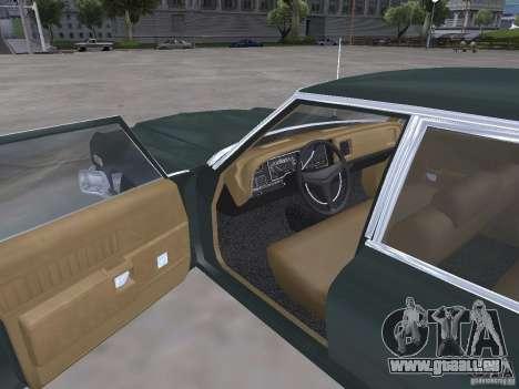 Dodge Monaco 1974 pour GTA San Andreas vue intérieure