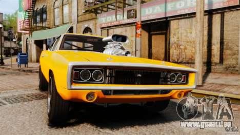Dodge Charger RT 1970 pour GTA 4 est une vue de l'intérieur