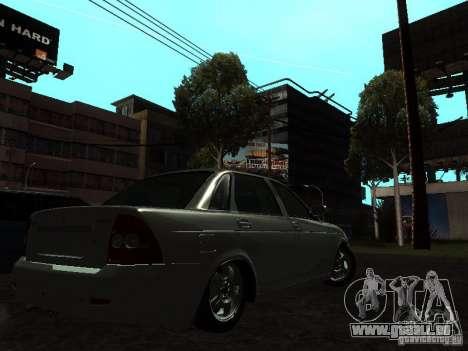 Lada 2170 Priora pour GTA San Andreas laissé vue