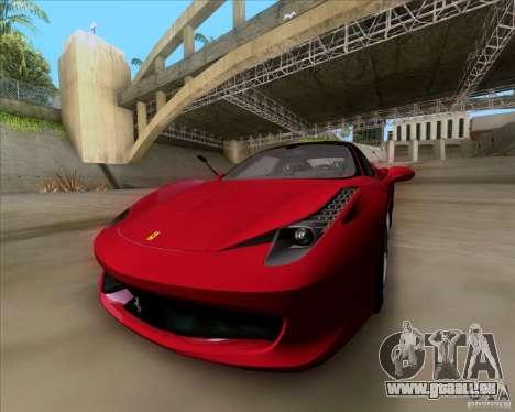 Ferrari 458 Italia V12 TT Black Revel pour GTA San Andreas vue de droite