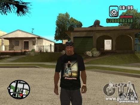 Rammstein T-shirt v1 für GTA San Andreas dritten Screenshot