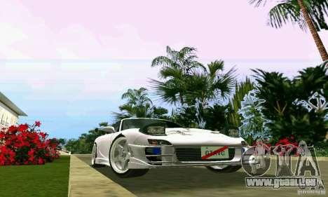Mazda RX7 tuning pour une vue GTA Vice City de l'intérieur