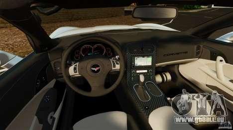 Chevrolet Corvette C6 2010 Convertible pour GTA 4 Vue arrière