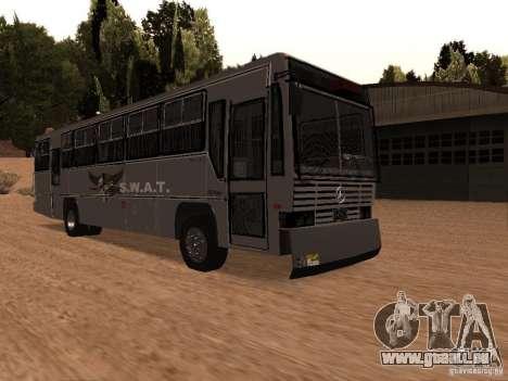 Mercedes Benz SWAT Bus pour GTA San Andreas vue de droite