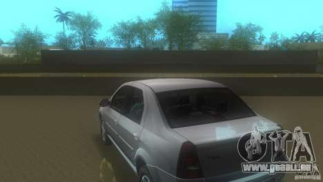 Dacia Logan pour GTA Vice City sur la vue arrière gauche