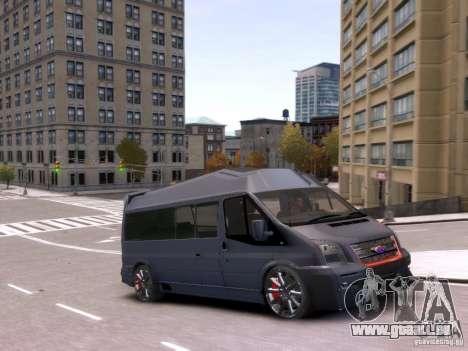 Ford Transit Sport Edition RV 2013 pour GTA 4 Vue arrière
