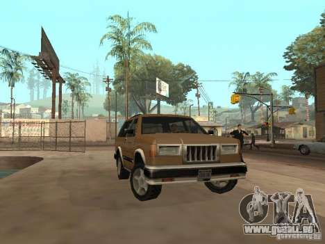 Landstalker nouveau pour GTA San Andreas vue de côté