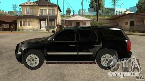 GMC Yukon Unmarked FBI pour GTA San Andreas laissé vue
