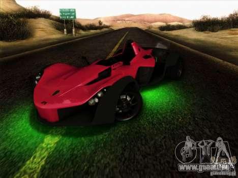 BAC MONO für GTA San Andreas Innenansicht