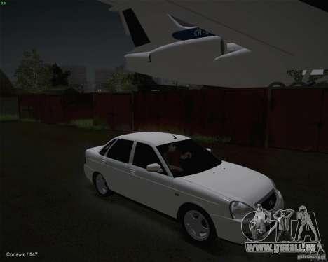 Lada 2170 pour GTA San Andreas vue de dessus