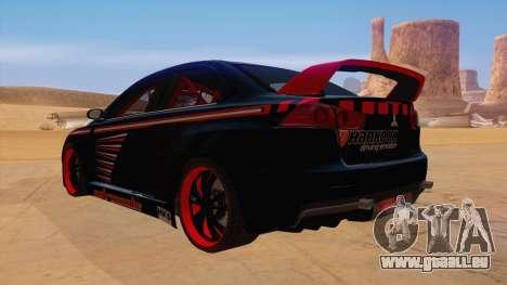 Mitsubishi Lancer Evolution X Pro Street pour GTA San Andreas sur la vue arrière gauche