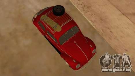 VW Beetle 1966 pour GTA San Andreas vue intérieure