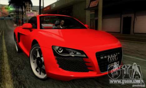 Audi R8 Spyder Tunable pour GTA San Andreas