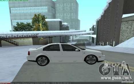 Volkswagen Bora 1.8 pour GTA San Andreas laissé vue