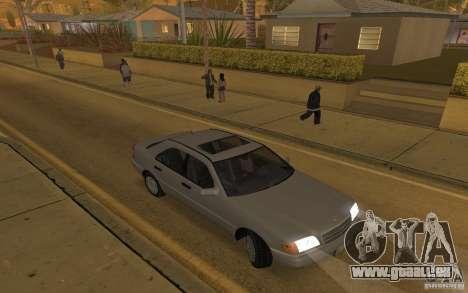 Mercedes Benz C220 pour GTA San Andreas vue intérieure