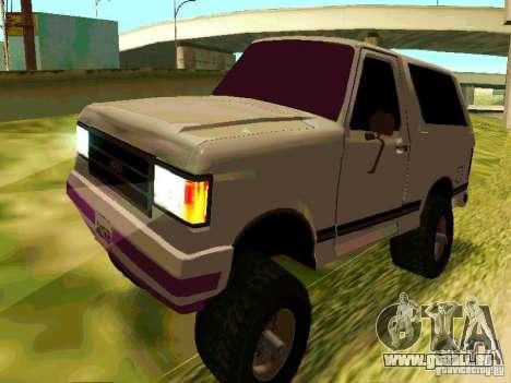 Ford Bronco 1990 für GTA San Andreas